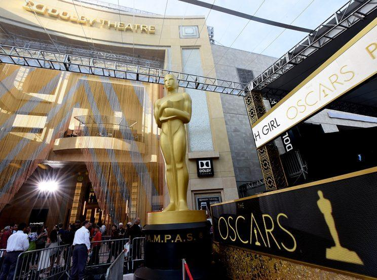 Preparations last year for the 88th Academy Awards