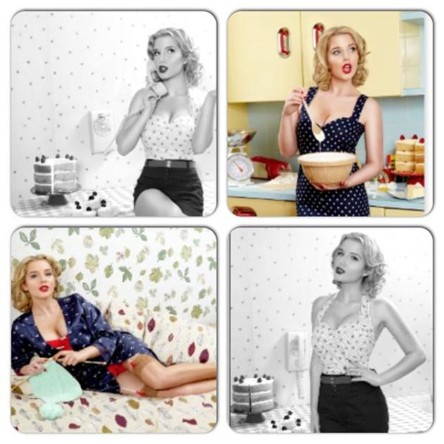Sexy Helen Flanagan pics: Helen poses as a not so desperate housewife in new! magazine shoot. [Copyright new!/Twitter]