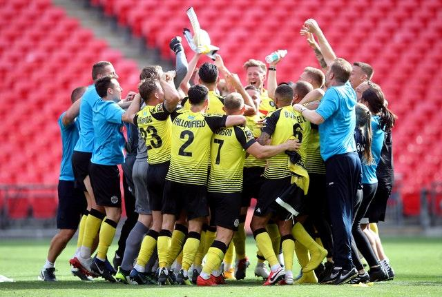 Harrogate were promoted to the EFL in August