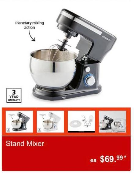 Image of Aldi Stand Mixer Special Buy catalogue item retails $69.99