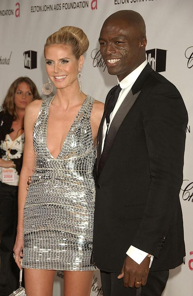 """<a href=""""http://movies.yahoo.com/movie/contributor/1804328244"""">Heidi Klum</a> and <a href=""""http://movies.yahoo.com/movie/contributor/1800166298"""">Seal</a> attend the 16th Annual Elton John AIDS Foundation Oscar Party at the Pacific Design Center in West Hollywood - 02/24/2008"""