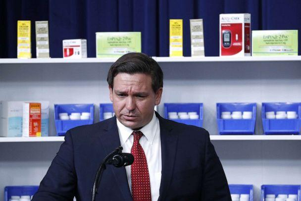PHOTO: Governor Ron DeSantis during a ceremony in the Eisenhower Executive Office Building in Washington, D.C, July 24, 2020. (Stefani Reynolds/EPA via Shutterstock)