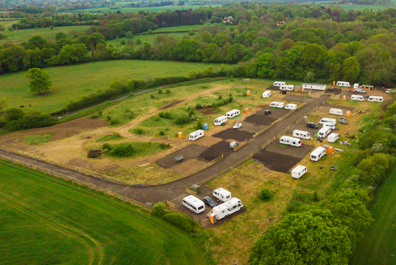 Travellers on the site in Little Hadham have been granted planning permission for a large site (SWNS)