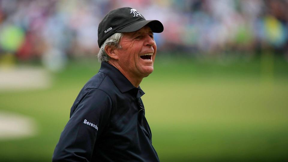 """<ul> <li><strong>Age:</strong> 85</li> <li><strong>Major wins:</strong> 9 (1959 British Open, 1961 Masters, 1962 PGA Championship, 1965 U.S. Open, 1968 British Open, 1972 PGA Championship, 1974 Masters, 1974 British Open, 1978 Masters)</li> <li><strong>Total Pro Wins:</strong> 160</li> </ul> <p>Nicknamed """"the Black Knight"""" for wearing all black while playing, the South African is one of the greatest golfers of all time. He became the third player to win the career Grand Slam and, along with Arnold Palmer and Jack Nicklaus, dominated golf in the 1960s and 1970s. Player's company has designed more than 400 golf courses, and the 5-foot-6-inch golfer has written 36 books on golf instruction and fitness.</p> <p><a href=""""https://www.gobankingrates.com/net-worth/sports/what-is-gary-player-net-worth/?utm_campaign=1103113&utm_source=yahoo.com&utm_content=16&utm_medium=rss"""" rel=""""nofollow noopener"""" target=""""_blank"""" data-ylk=""""slk:See how much he is worth."""" class=""""link rapid-noclick-resp"""">See how much he is worth.</a></p> <p><em><strong>Find Out: <a href=""""https://www.gobankingrates.com/net-worth/sports/richest-golfers-all-time/?utm_campaign=1103113&utm_source=yahoo.com&utm_content=17&utm_medium=rss"""" rel=""""nofollow noopener"""" target=""""_blank"""" data-ylk=""""slk:How Rich Are 45 of the Wealthiest Golfers of All Time?"""" class=""""link rapid-noclick-resp"""">How Rich Are 45 of the Wealthiest Golfers of All Time?</a></strong></em></p>  <p><small>Image Credits: Tannen Maury/EPA-EFE</small></p>"""
