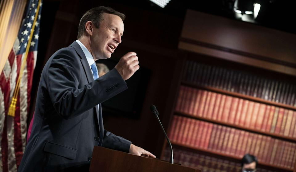 US Senator Chris Murphy, a Democrat, has expressed worry about national security during Donald Trump's final months in office. Photo: Getty Images/AFP