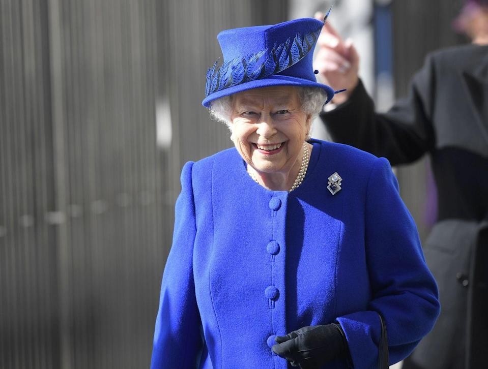 <p>Among the many pieces Queen Elizabeth inherited from her grandmother Queen Mary (who died in 1953) is the Queen Mary Russian Brooch, which features a square-cut diamond and square cabochon sapphire surrounded by round brilliant diamonds that can be worn vertically or horizontally. The jewel was a gift to then Princess Mary of Teck by Empress Marie Feodorovna of Russia in 1893.</p>