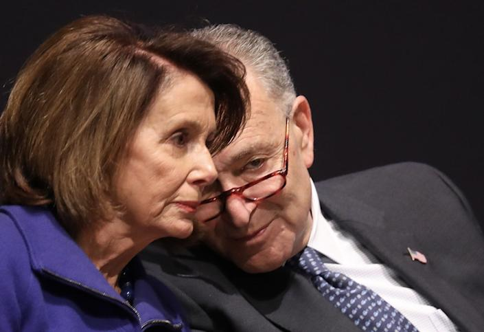 House Minority Leader Nancy Pelosi and Senate Minority Leader Chuck Schumer canceled a meeting with President Donald Trump on Tuesday. (Photo: Win McNamee/Getty Images)