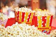 <p>Since drive-in movie theaters are hard to come by, set up an outdoor screening in your own backyard. Shine a projector against a blank wall and pick one of dad's favorite movies to watch as a family.</p>