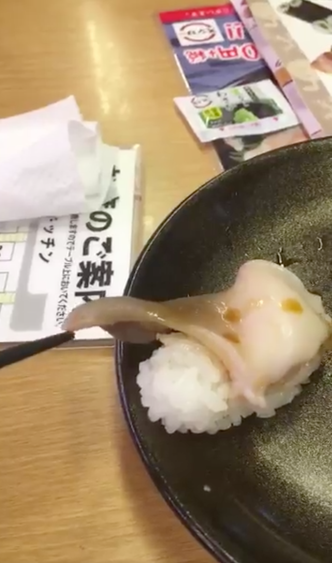 Would you eat sushi that's still alive? Photo: Instagram/shoumizo3446