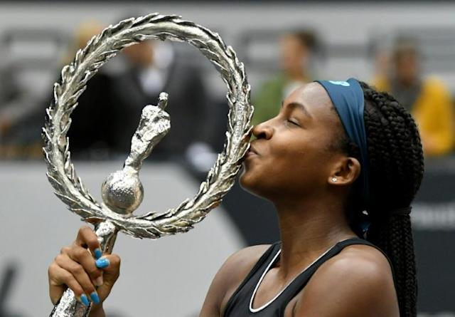 Coco Gauff is the youngest American to win a WTA title since Jennifer Capriati in 1991 (AFP Photo/BARBARA GINDL)