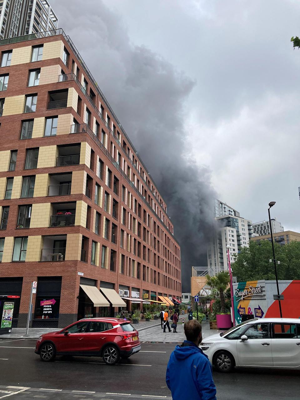Southwark Playhouse have offered to take anyone in who has been evacuated from the fire (via REUTERS)