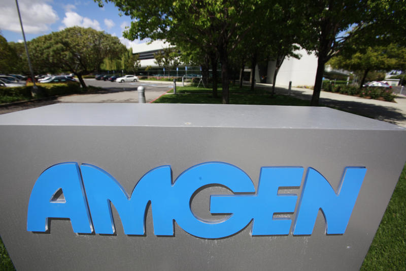 FILE - This April 20, 2010, file photo shows an exterior view of Amgen offices in Fremont, Calif. Amgen Inc. agreed  on Tuesday, Dec. 18, 2012, to pay $762 million to resolve federal litigation accusing the drugmaker of marketing the anemia treatment Aranesp for unapproved uses. (AP Photo/Paul Sakuma, File)