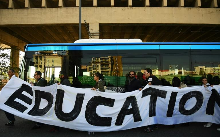 Education Minister Jean-Michel Blanquer expects 55 percent of teaching staff to strike nationwide (AFP Photo/ANNE-CHRISTINE POUJOULAT)