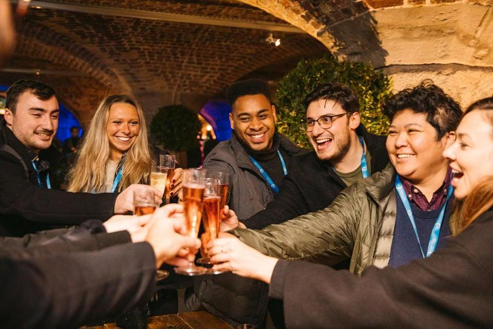 Keeping the cold off:  revellers at Taste  (Jenna Foxton)