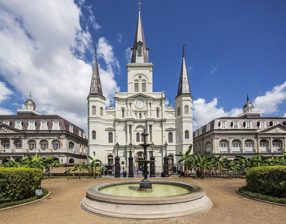<p>Jackson Square is one of New Orleans' many historic landmarks, situated at the heart of the French Quarter. Designed in 1721 by French architect Louis Pilié to emulate Paris's Place des Vosges, this gorgeous locale has served as a site for battles and executions, weddings and entertainment, and today, as a space for local artists to share their works and talent as you enjoy world-famous beignets from Cafe du Monde.</p>