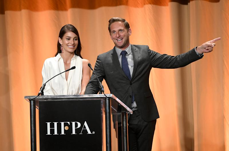 Camila Morrone and Josh Lucas presented at the Hollywood Foreign Press Association's Annual Grants Banquet on July 31st. (Photo: Getty Images)