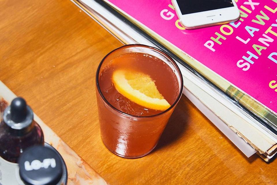 """A large-format spritz, but with extra booze (gin, tequila, or mezcal, please) and the tang of kombucha, preferably ginger or lemon flavored. No Prosecco required. <a href=""""https://www.epicurious.com/recipes/food/views/aperol-kombucha-cocktail?mbid=synd_yahoo_rss"""" rel=""""nofollow noopener"""" target=""""_blank"""" data-ylk=""""slk:See recipe."""" class=""""link rapid-noclick-resp"""">See recipe.</a>"""