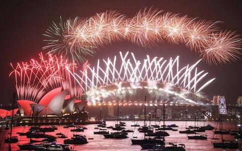 <span>Sydney's celebrations </span> <span>Credit: Getty Images AsiaPac </span>