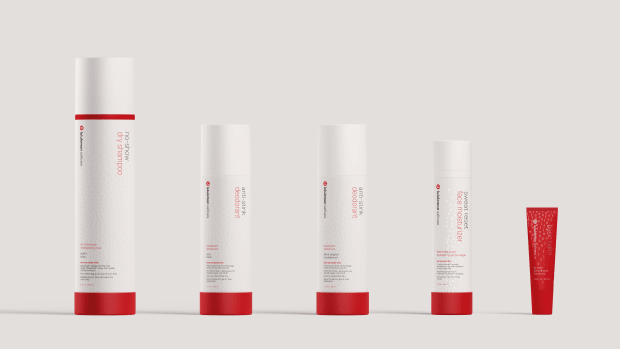 """The full Lululemon Selfcare product lineup, featuring (from L to R): <a href=""""https://rstyle.me/+raX2sS9Tkh8LJcPaXchQyQ"""" rel=""""nofollow noopener"""" target=""""_blank"""" data-ylk=""""slk:No-Show Dry Shampoo"""" class=""""link rapid-noclick-resp"""">No-Show Dry Shampoo</a>, <a href=""""https://rstyle.me/+abFQJHrWf8y3_33JaI9PKw"""" rel=""""nofollow noopener"""" target=""""_blank"""" data-ylk=""""slk:Anti-Stink Deodorant"""" class=""""link rapid-noclick-resp"""">Anti-Stink Deodorant</a> (in two different <a href=""""https://rstyle.me/+Zgk4YyQ8QwAjJDFvMM1iFQ"""" rel=""""nofollow noopener"""" target=""""_blank"""" data-ylk=""""slk:scents"""" class=""""link rapid-noclick-resp"""">scents</a>), <a href=""""https://rstyle.me/+drKpHu56LcEnnCxgXH-G_g"""" rel=""""nofollow noopener"""" target=""""_blank"""" data-ylk=""""slk:Sweat Reset Face Moisturizer"""" class=""""link rapid-noclick-resp"""">Sweat Reset Face Moisturizer</a> and <a href=""""https://rstyle.me/+L_xiT4kWFXjsm9duzpD5Tg"""" rel=""""nofollow noopener"""" target=""""_blank"""" data-ylk=""""slk:Basic Balm Lip Balm."""" class=""""link rapid-noclick-resp"""">Basic Balm Lip Balm.</a> Photo: Courtesy of Lululemon"""