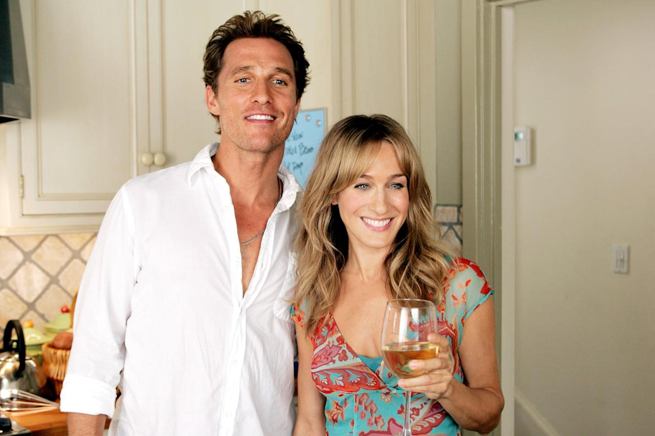 """<p>Hey, remember when <a class=""""sugar-inline-link ga-track"""" title=""""Latest photos and news for Matthew McConaughey"""" href=""""https://www.popsugar.com/Matthew-McConaughey"""" target=""""_blank"""" data-ga-category=""""Related"""" data-ga-label=""""https://www.popsugar.com/Matthew-McConaughey"""" data-ga-action=""""&lt;-related-&gt; Links"""">Matthew McConaughey</a> was """"that rom-com guy""""? He stars with <a class=""""sugar-inline-link ga-track"""" title=""""Latest photos and news for Sarah Jessica Parker"""" href=""""https://www.popsugar.com/Sarah-Jessica-Parker"""" target=""""_blank"""" data-ga-category=""""Related"""" data-ga-label=""""https://www.popsugar.com/Sarah-Jessica-Parker"""" data-ga-action=""""&lt;-related-&gt; Links"""">Sarah Jessica Parker</a> in this comedy about a 35-year-old who just won't leave home and the woman his parents hire to charm him into leaving.</p> <p><a href=""""http://www.netflix.com/title/70044867"""" target=""""_blank"""" class=""""ga-track"""" data-ga-category=""""Related"""" data-ga-label=""""http://www.netflix.com/title/70044867"""" data-ga-action=""""In-Line Links"""">Watch <strong>Failure to Launch</strong> on Netflix.</a></p>"""