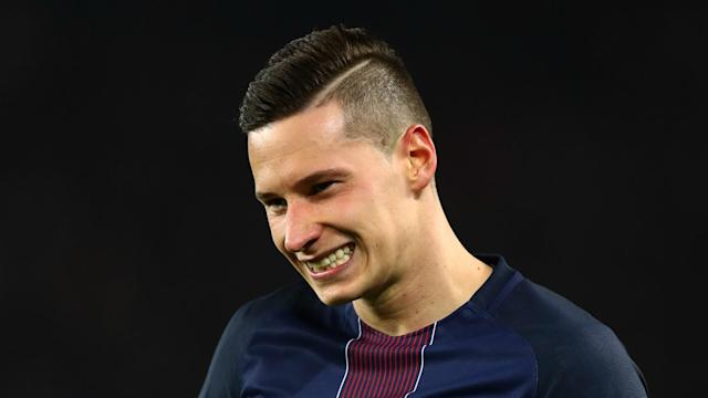 Playing alongside attacking talent like Edinson Cavani and Angel Di Maria is proving thrilling for PSG winger Julian Draxler.