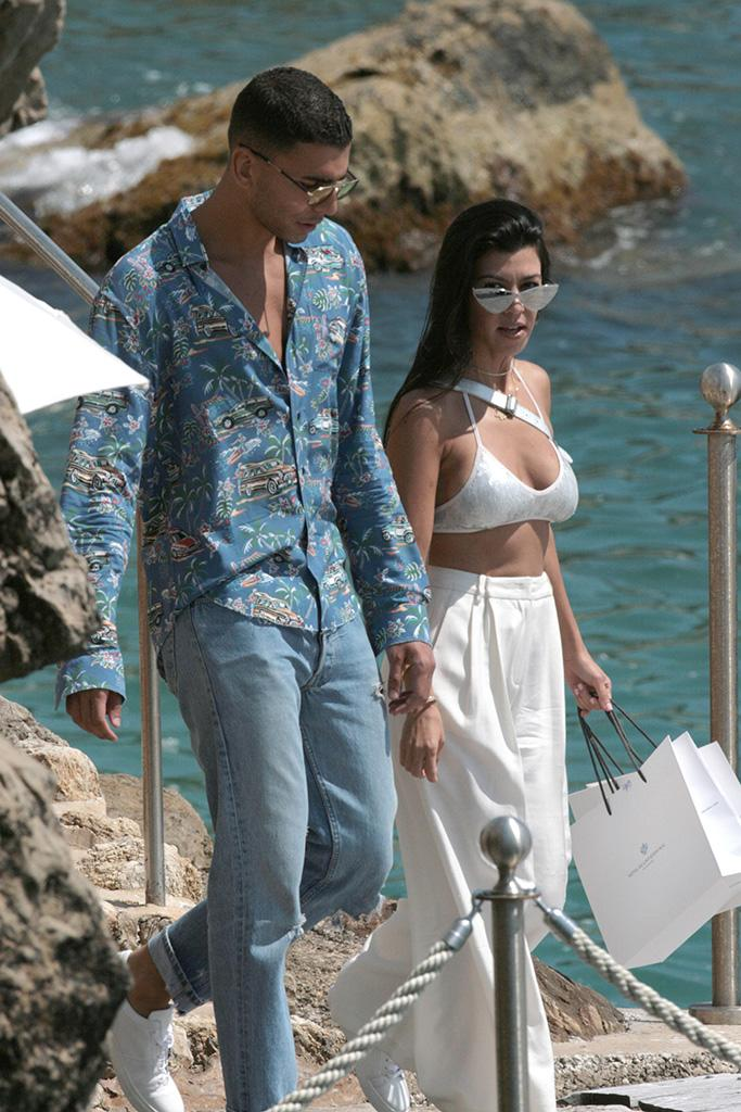 Kourtney Kardashian and Younes Bendjima spotted out and about in Cannes, France.