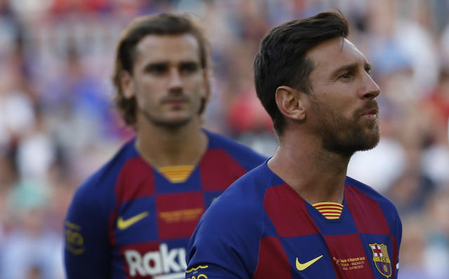 Why bet against Lionel Messi and Barcelona at this point? Especially with Antonie Griezmann now in the fold? (AP)
