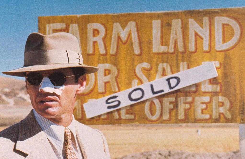 """<a href=""""http://movies.yahoo.com/movie/1800020966/info"""">Chinatown</a> (1974): Nicholson is in every scene of Roman Polanski's L.A. noir, playing a type, yes -- the hard-boiled private eye -- but infusing the character with a sensitivity that lurks beneath the tough-guy exterior. Jake Gittes is the kind of role Humphrey Bogart would have played in his prime, but Nicholson never does an impression; he makes this classic, flawed figure his own. He's confident but also capable of vulnerability, as evidenced by the way he finds himself falling for the obviously troubled Evelyn Mulwray, played elegantly by Faye Dunaway. If you're looking for a perfect Nicholson performance ... forget it. It's """"Chinatown."""""""
