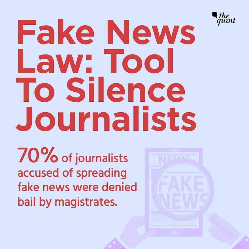 """<div class=""""paragraphs""""><p>Fake News Law: Tool To Silence Journalists </p></div>"""