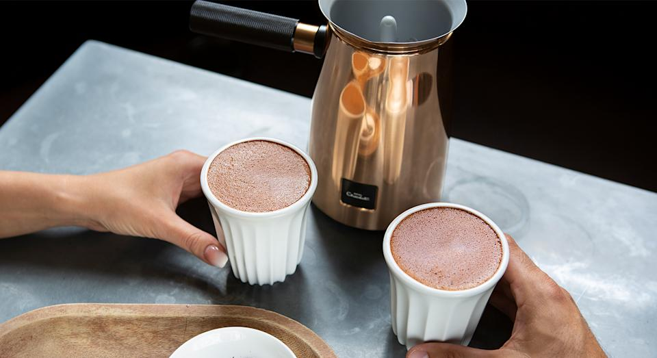 "Hotel Chocolat's The Velvetiser has been hailed a ""game changer"" by customers for molten hot chocolate drinks in the comfort of your own home. (Hotel Chocolat)"