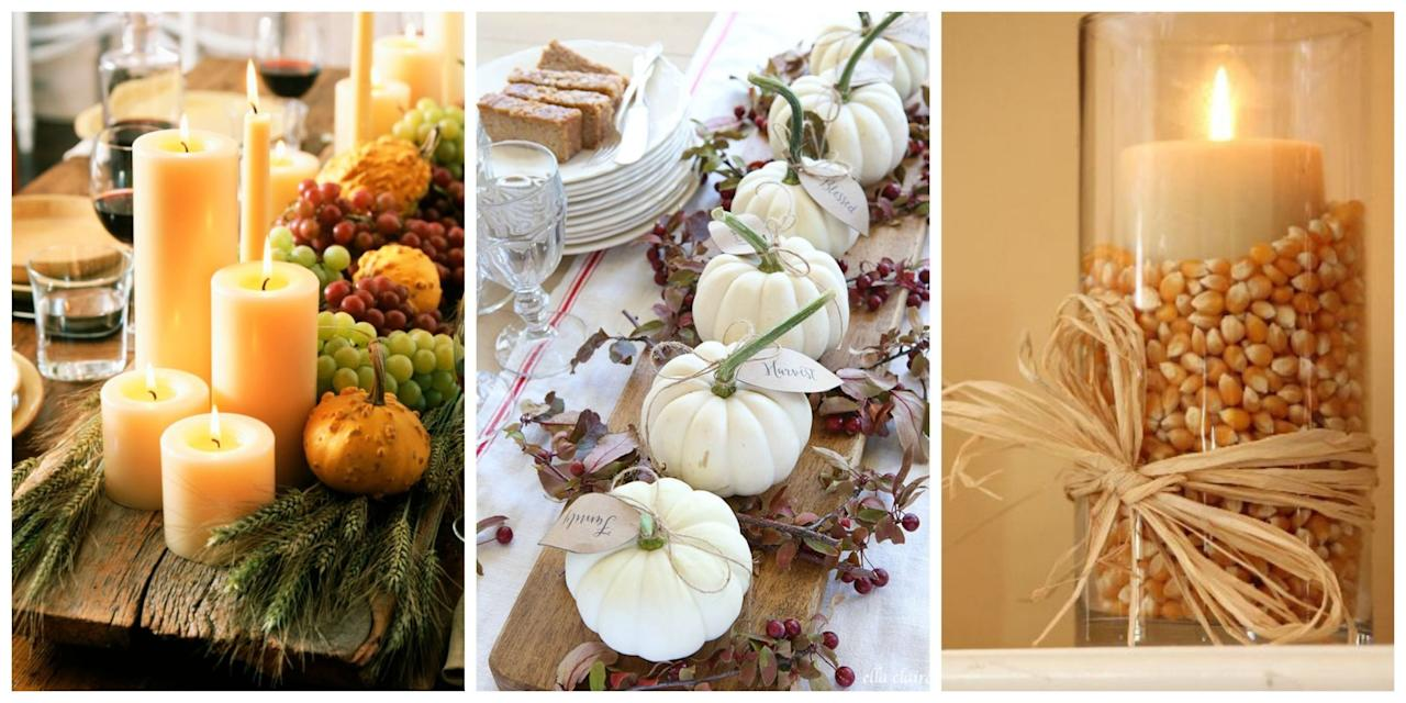 <p>Armed with fall produce, fallen leaves and a few crafty finds, you can easily transform your space into a harvest-inspired haven. Just look to one of the following DIY centerpiece ideas-affordable and cheery, any of these projects will add just the right amount of warmth to your seasonal spread.<span></span></p>