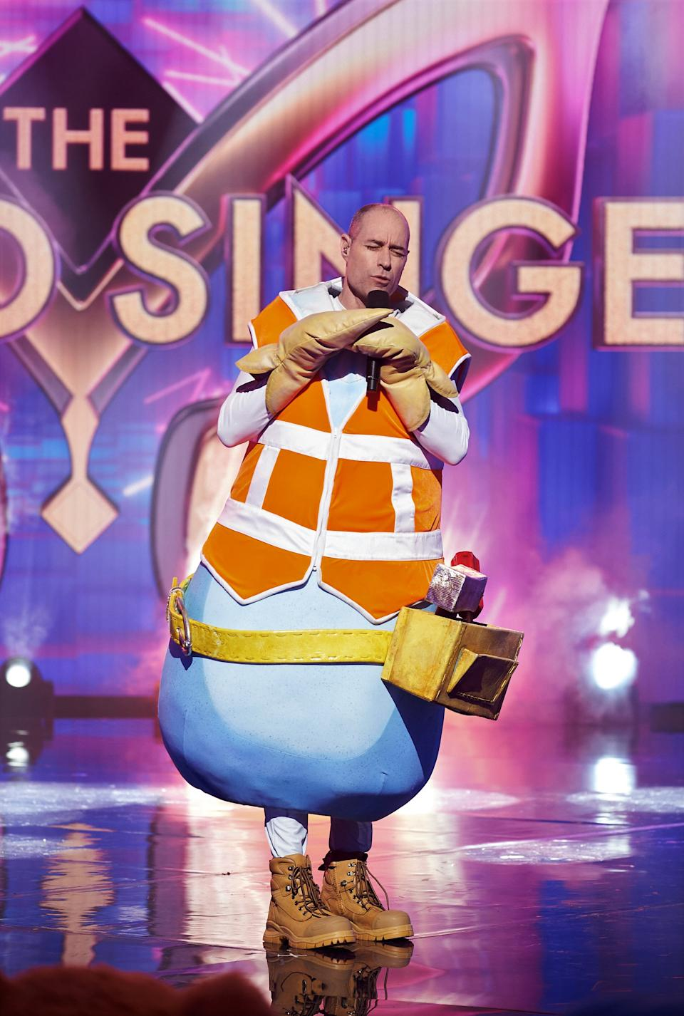Michael Bevan as the Hammerhead on The Masked Singer