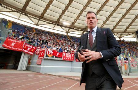 Soccer Football - Champions League Semi Final Second Leg - AS Roma v Liverpool - Stadio Olimpico, Rome, Italy - May 2, 2018 Jamie Carragher inside the stadium before the match Action Images via Reuters/John Sibley