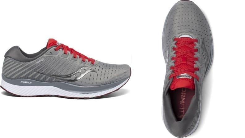 The Saucony Guide 13 is a running shoe that offers plenty stability.