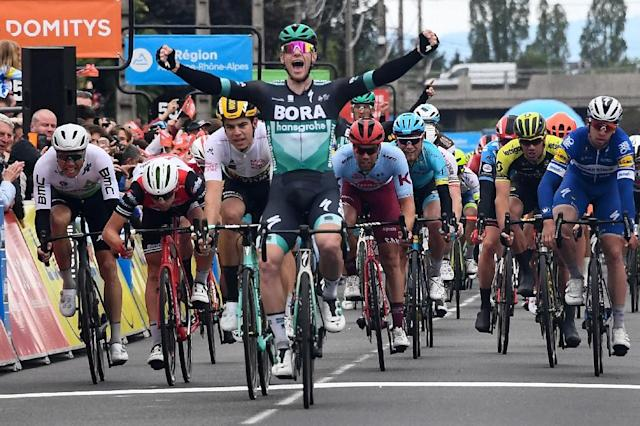 Ireland's Sam Bennett storms stage 3 of the Criterium (AFP Photo/Anne-Christine POUJOULAT)