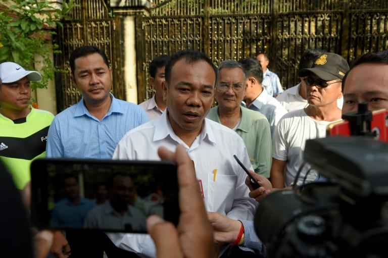 Supporters gathered outside Kem Sokha's home after new of his release became known