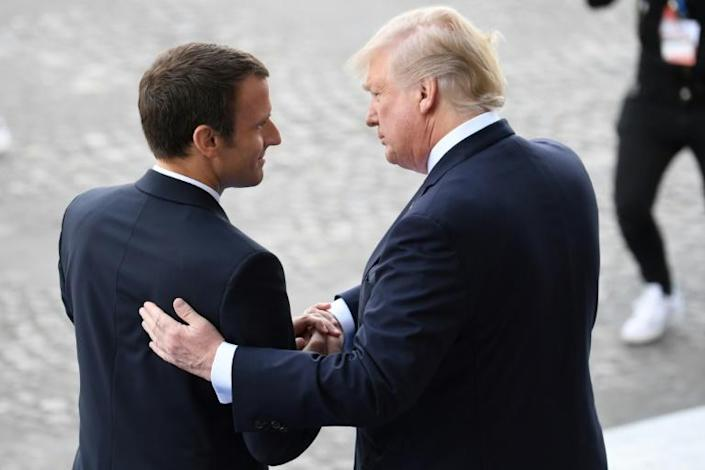 French President Macron made Donald Trump a guest of honour in Paris in 2017
