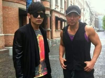 Photo of Jay Chou  & his friend Will Liu
