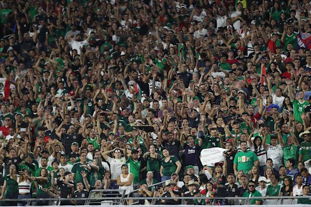 "The ""p***"" chant has been present at each of Mexico's games at the 2019 Gold Cup. (Getty)"
