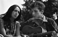 """<p>Baez and Dylan were both only 22-years-old at the time. Dylan played previews of his upcoming album, """"The Times They Are A-Changin'"""": """"When the Ship Comes In"""" and """"Only A Pawn In Their Game."""" </p>"""