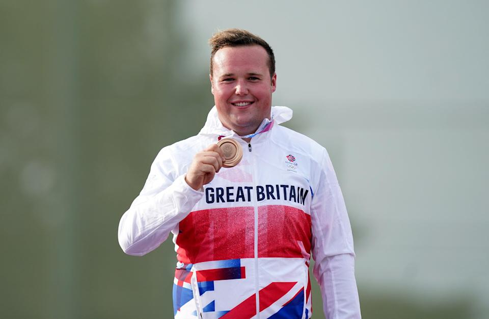 Matthew Coward-Holley poses with his bronze medal (Mike Egerton/PA) (PA Wire)