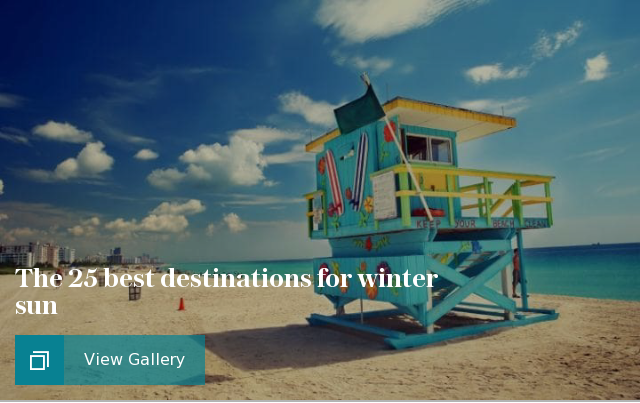 The 25 best destinations for winter sun