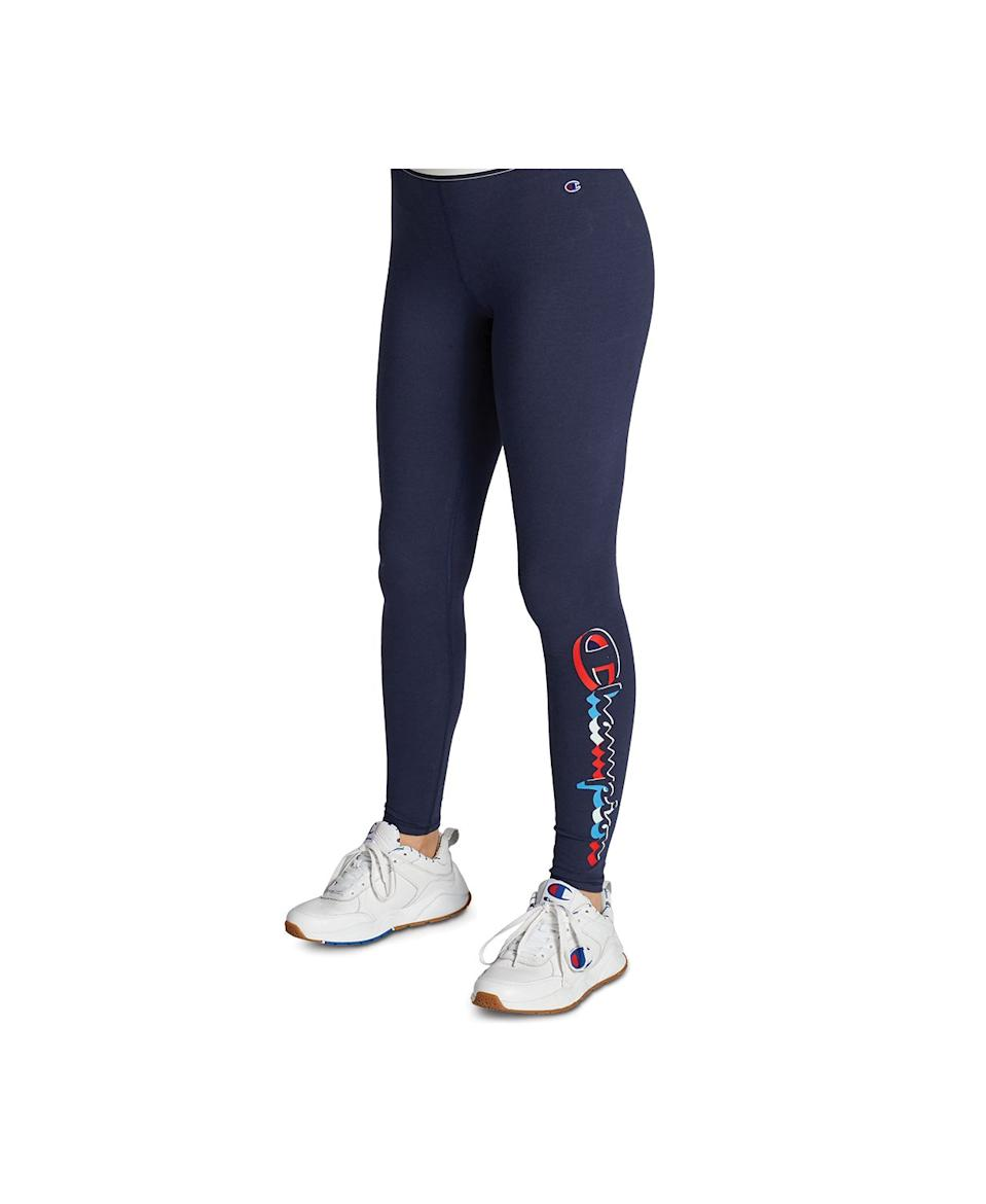 """<br><br><strong>Champion</strong> Authentic Logo Leggings, $, available at <a href=""""https://www.macys.com/shop/product/champion-authentic-logo-leggings?ID=8057129&CategoryID=80422"""" rel=""""nofollow noopener"""" target=""""_blank"""" data-ylk=""""slk:Macy's"""" class=""""link rapid-noclick-resp"""">Macy's</a>"""
