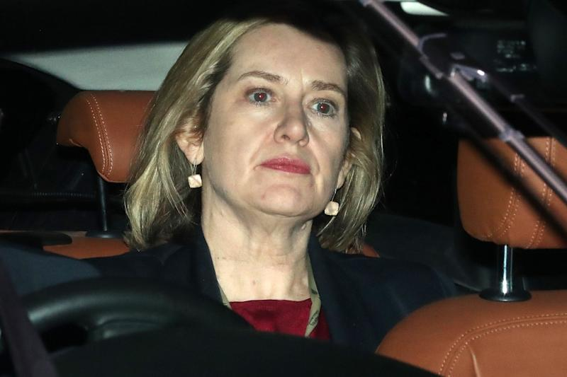 Amber Rudd pictured leaving Parliament on Wednesday (Daniel Leal-Olivas/AFP/Getty Images)