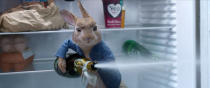 """This image released by Sony Pictures shows Peter Rabbit, voiced by James Corden in """"Peter Rabbit. 2: The Runaway."""" (Sony Pictures via AP)"""