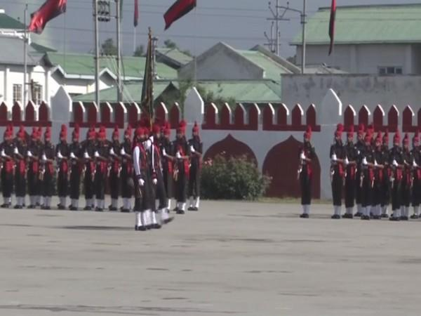 The passing out-cum-attestation parade held at the Bana Singh Parade Ground of JAK LI Regimental Centre (Photo/ANI)