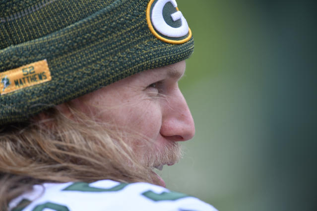 Green Bay Packers outside linebacker Clay Matthews was called for another controversial roughing-the-passer penalty. (AP)