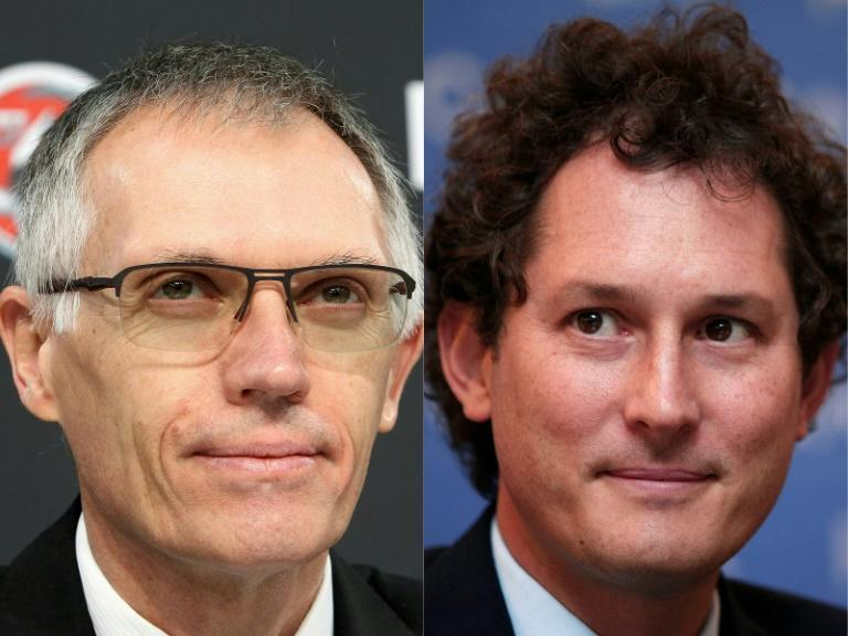 Carlos Tavares (l) and John Elkann will join forces under the Stellantis banner
