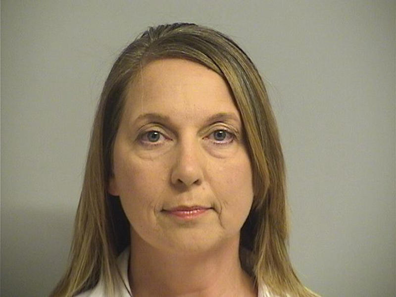 Betty Shelby, 42, was charged with first-degree manslaughter in the death of 40-year-old Terence Crutcher. She was acquitted in May. (Courtesy Tulsa County Jail/Handout via REUTERS)
