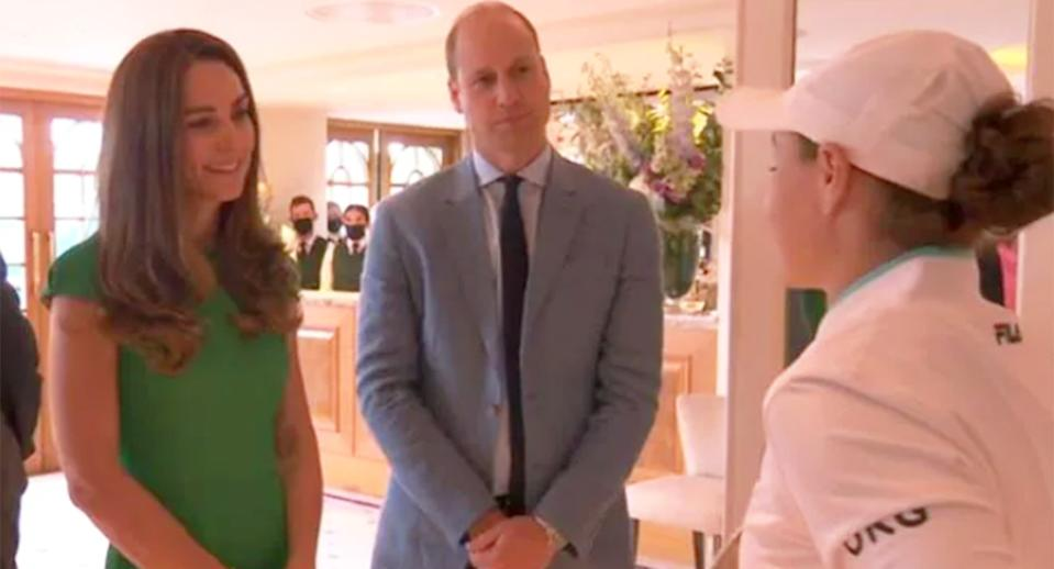 Ash Barty met Prince William and Kate